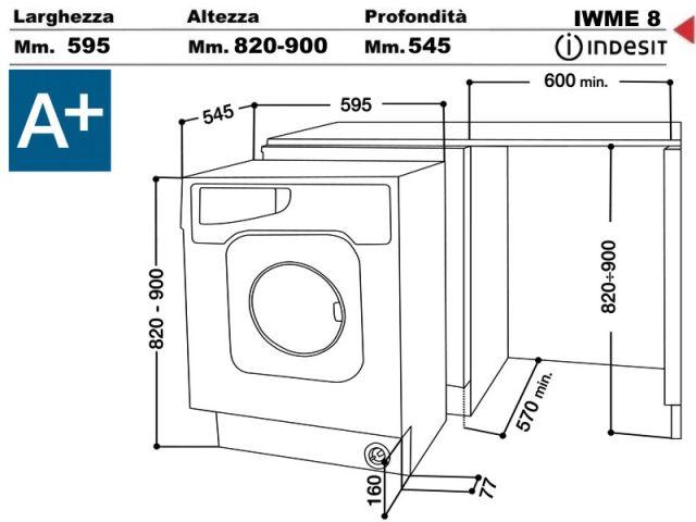 Iwme8eu lavabiancheria indesit i wme 8 eu lavatrice - Lavatrice in cucina ...
